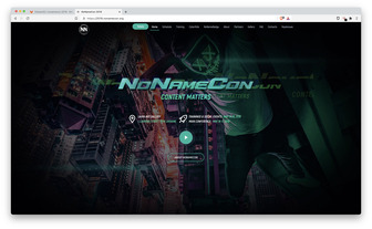 NoNameCon 2019 website